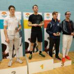 Mens Epee L-R Geery, Maynard (Egham Fencing Club), Smythe, Hall
