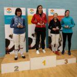 Womens Sabre L-R Bonardi, Sosnowska (Phoenix Fencing Club, Exeter), Frith, De Domenico