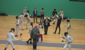 Ladies foil and epee action